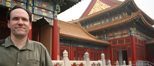 Doug in the Forbidden City, Beijing, China